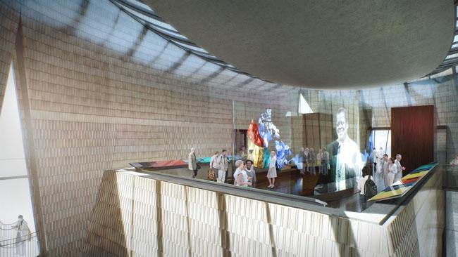 Interior of National Music Center feeatured on kunstler's eyesore of te month