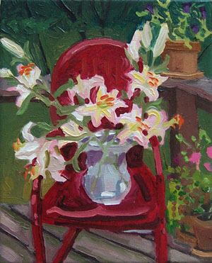 lilies painting by JH Kunstler