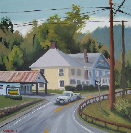 corinth NY painting by jh kunstler