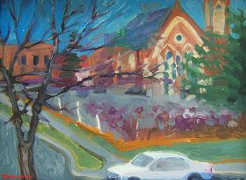 Saratoga in Winter by jh kunstler