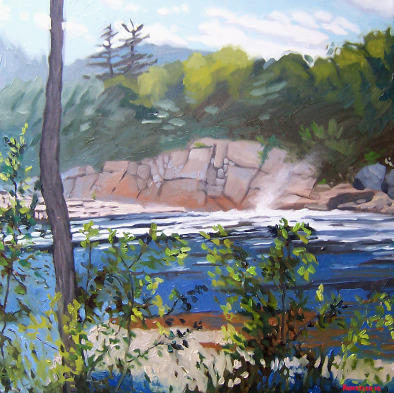 Kunstler painting 2011 Back of the Falls