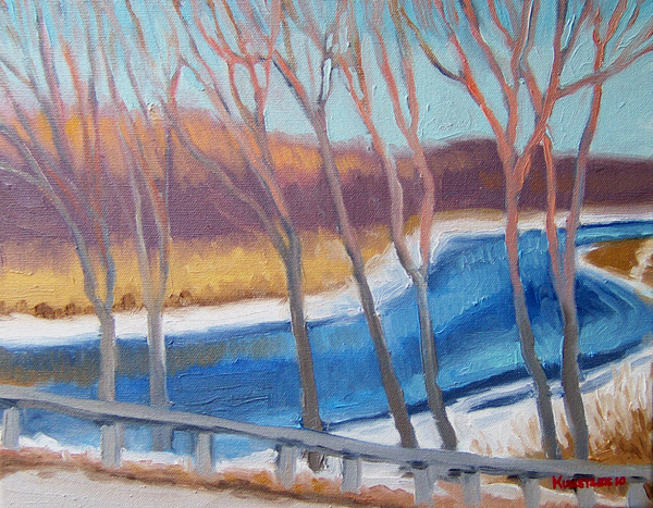 kunstler paintings 2011 Fish Creek Winter