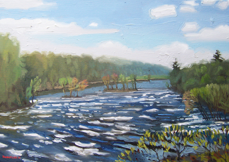 kunstler paintings 2011 Hudson River in Flood