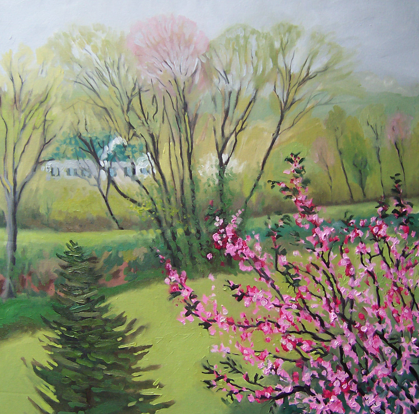 kunstker painting 2011 Rainy Day Spring