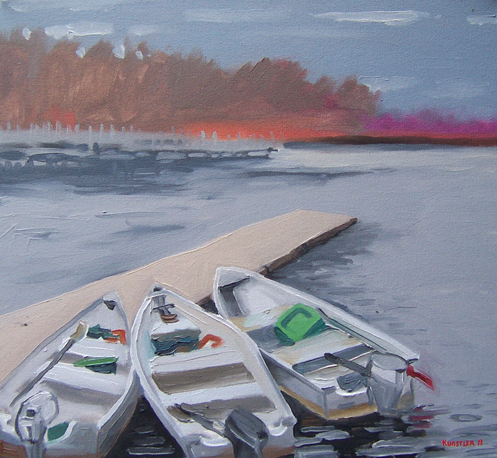 kunstler paintings 2011 Three boats