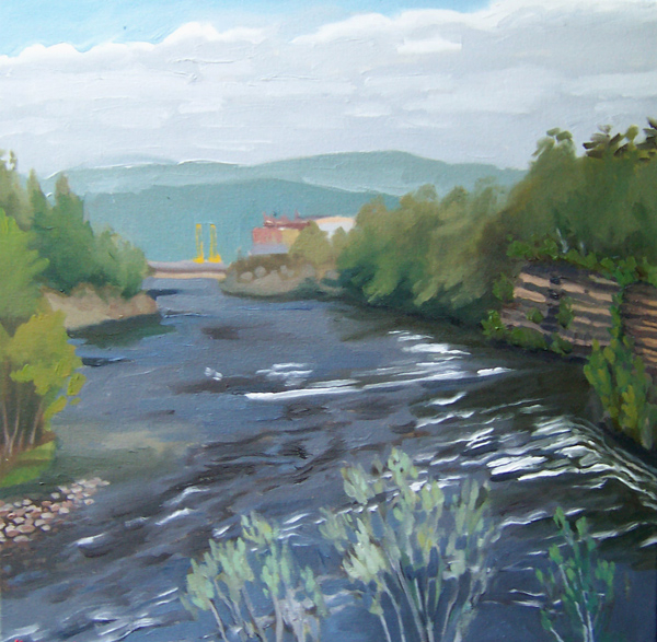 kunstler painting 2011 Corinth Gorge in Flood