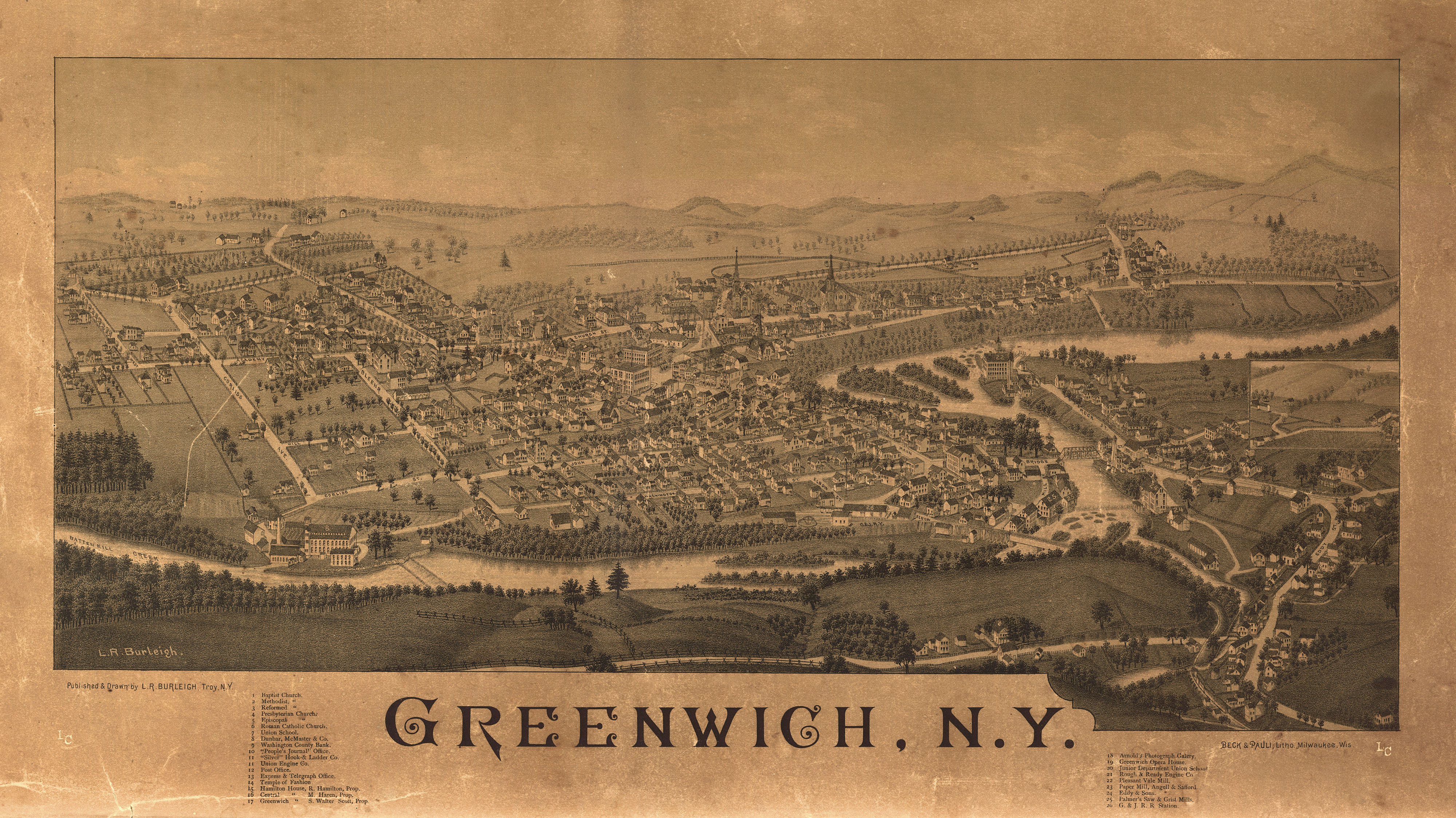 Greenwich NY 19th Century Large