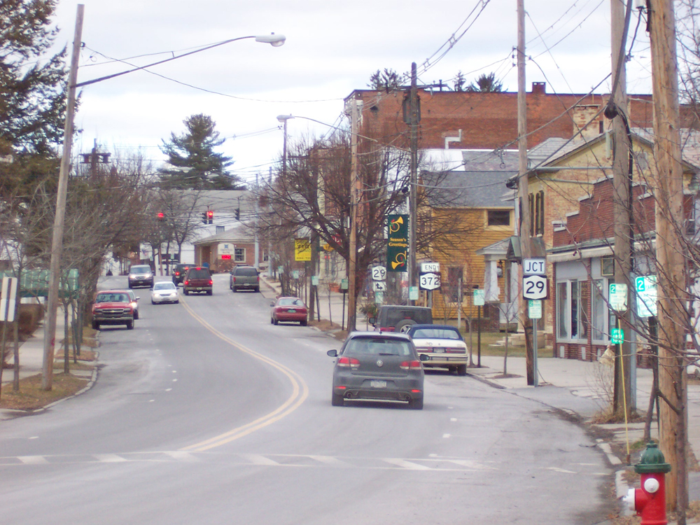 Greenwich NY - the east end of Main Street looking west - at kunstler.com