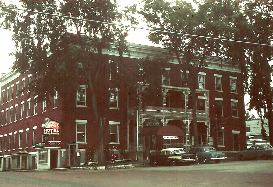 Greenwich, NY, The White Swan Hotel 1961 - at kunstler.com