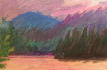 Weller Pond sunset