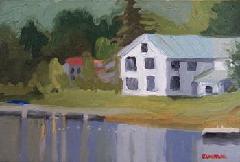 Schroon Lake boathouse