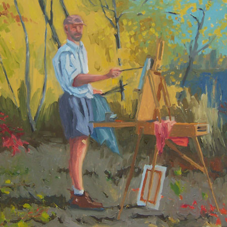mark walp painting in the fall by james howard Kunstler