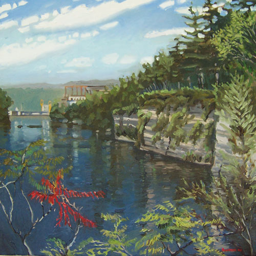 hudson river at corinth by james howard kunstler
