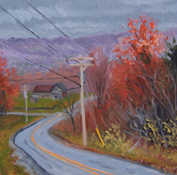 greene road fall painting by kunstler