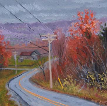 greene road fall painting by kunstler