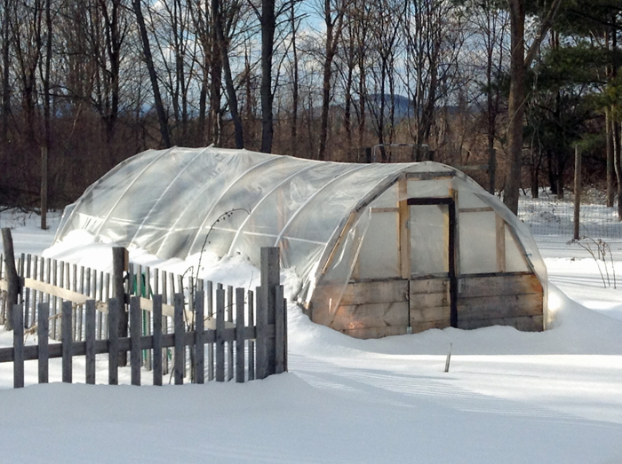 Hoop House propped up
